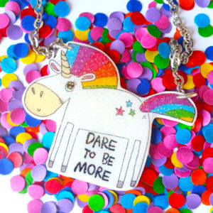 More – glitter unicorn necklace